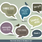 Link toCute speech bubbles for you text vector 05