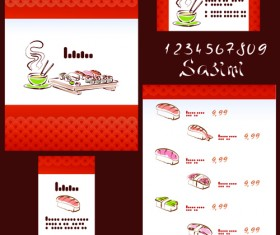 Vector Japan Sushi Menu Templates 01