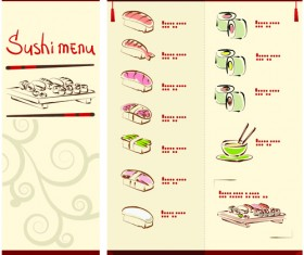 Vector Japan Sushi Menu Templates 02