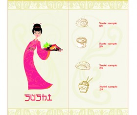 Vector Japan Sushi Menu Templates 03
