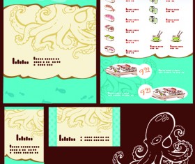 Vector Japan Sushi Menu Templates 05