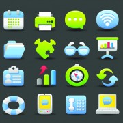 Link toVarious society vector icons set 01