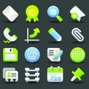 Link toVarious society vector icons set 04