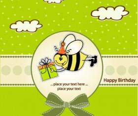 Vector Baby Happy Birthday backgrounds 01