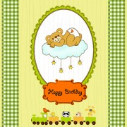 Link toVector baby happy birthday backgrounds 02