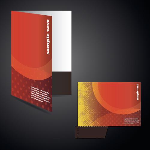 vector layout folder cover design set 01 free download