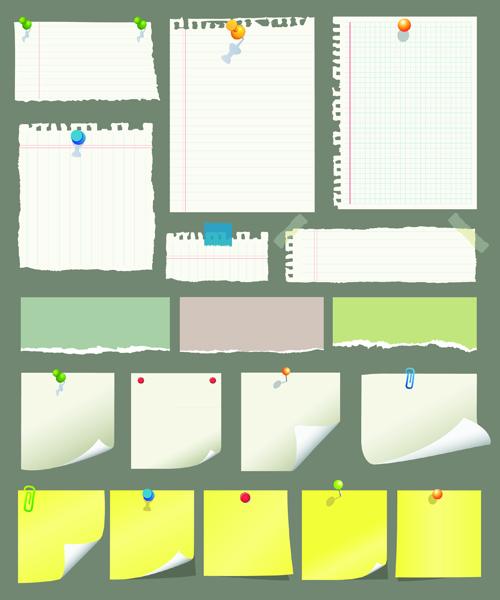 Vector Old Paper design elements set 01