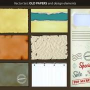 Link toVector old paper design elements set 07