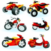 Link toVector motorcycle design elements graphics