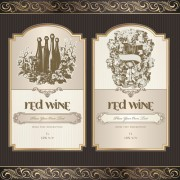 Link toVintage elements of wine labels vector material 01