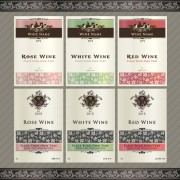 Link toVintage elements of wine labels vector material 04