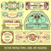 Link toVintage label art design vector set 02