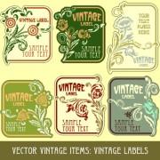 Link toVintage label art design vector set 04