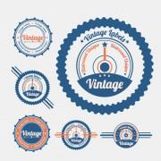 Link toVintage object labels design elements vector 02