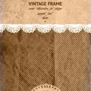 Link toVintage frame with scrap background vector 05