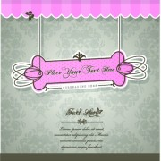 Link toVintage tag vector background set 05