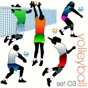 Link toVolleyball silhouettes vector set