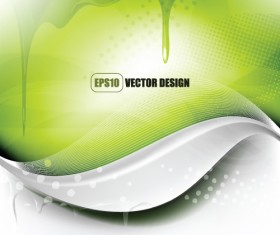 Wave with Water Drop background vector 02