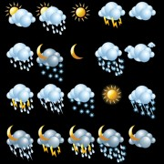 Link toVarious weather icon vector set 01