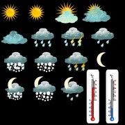 Link toVarious weather icon vector set 03