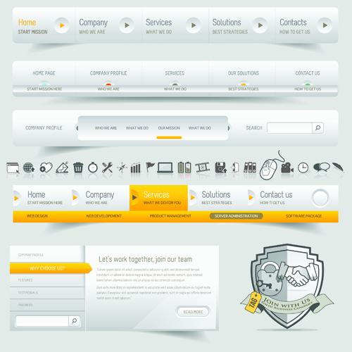 Vector Web Elements Menu art graphic 02