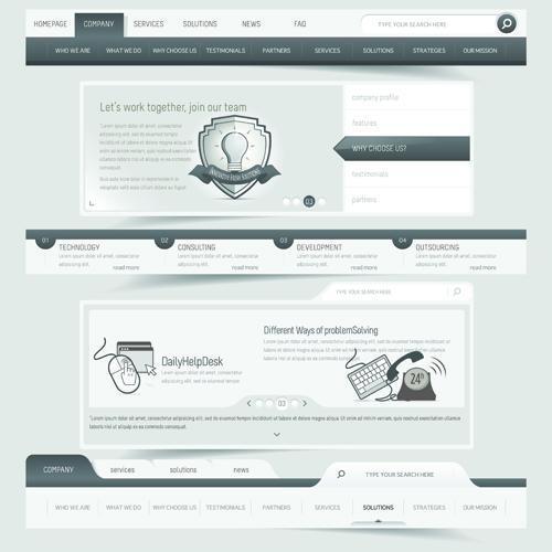 Vector Web Elements Menu art graphic 04