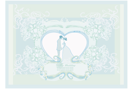 Creative wedding backgrounds design vector 04 – Over