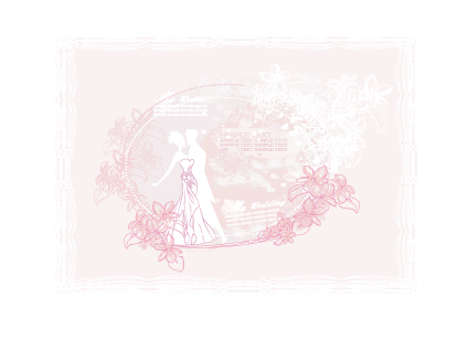 Creative Wedding Backgrounds Design Vector 05