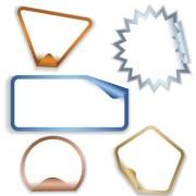 Link toWhite frames stickers design vector 01