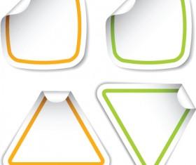 White frames Stickers design vector 02