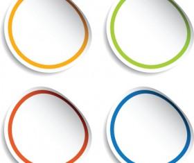 White frames Stickers design vector 03