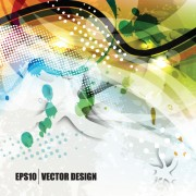 Link toAbstract background with garbage design vector 04