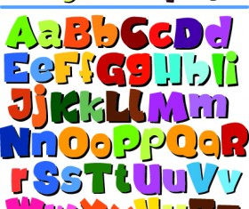 Diverse alphabet elements vector art 02