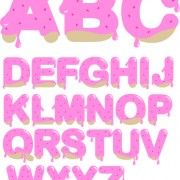 Link toDiverse alphabet elements vector art 04