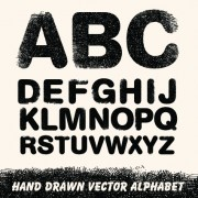 Link toDiverse alphabet elements vector art 05