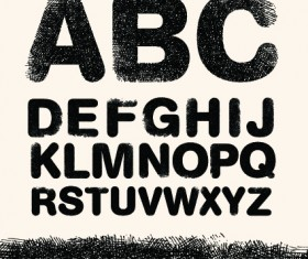 Diverse alphabet elements vector art 05