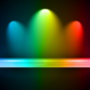 Link toRainbow stage spotlights vector background 04