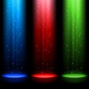Link toRainbow stage spotlights vector background 05