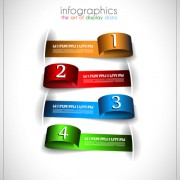 Link toNumbered infographics elements vector 07
