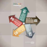 Link toNumbered infographics elements vector 08