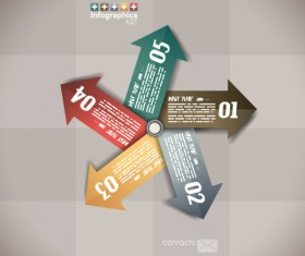 Numbered Infographics elements vector 08