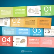 Link toNumbered infographics elements vector 09