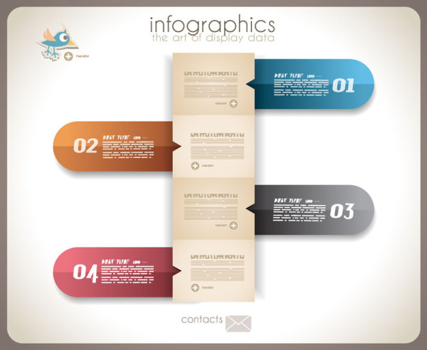 Numbered Infographics elements vector 10