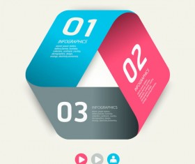 Numbered Infographics elements vector 13