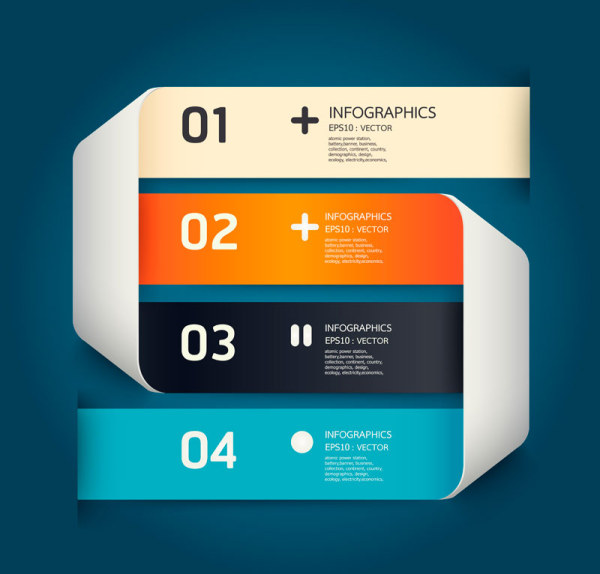 Numbered Infographics elements vector 14 - Vector Business free ...
