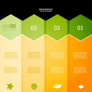 Link toNumbered infographics elements vector 21