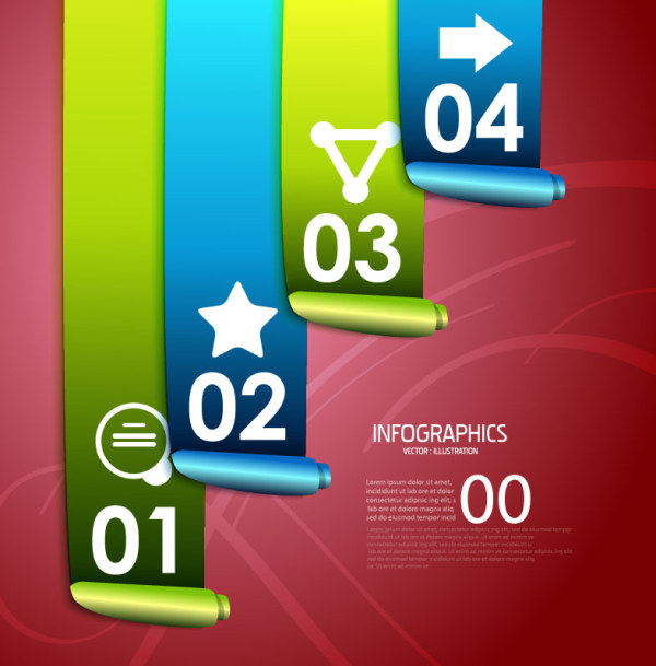 Numbered Infographics elements vector 22