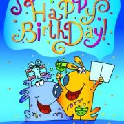 Link toFunny cartoon birthday cards vector 01