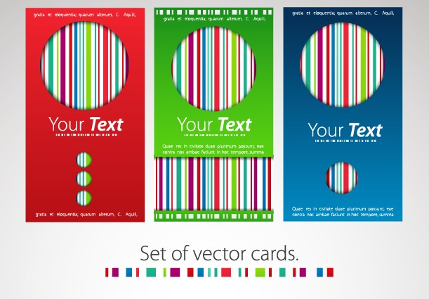 Modern business cards template 03 - Vector Card free download
