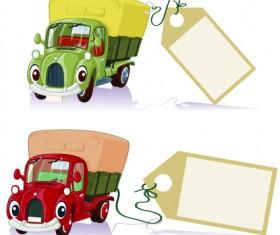Tag car cartoon vector set 02